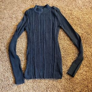 H&m LOGG navy blue turtleneck sweater